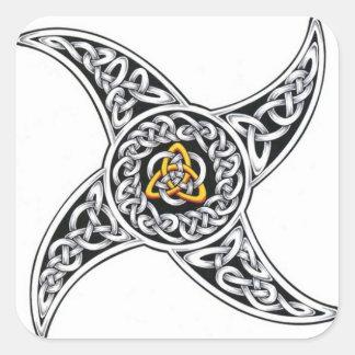 Adesivo Quadrado símbolo dos céltico-guerreiros
