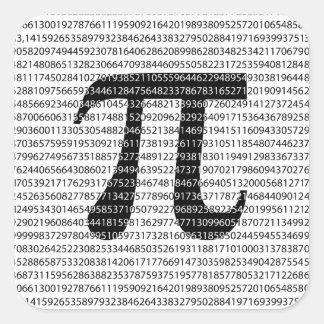 Adesivo Quadrado Símbolo matemático do dia preto original do pi do
