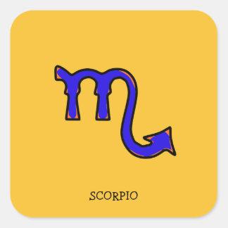 Adesivo Quadrado Símbolo t da Escorpião