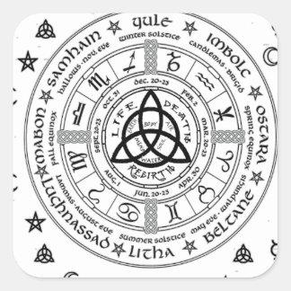 Adesivo Quadrado Símbolos da feitiçaria