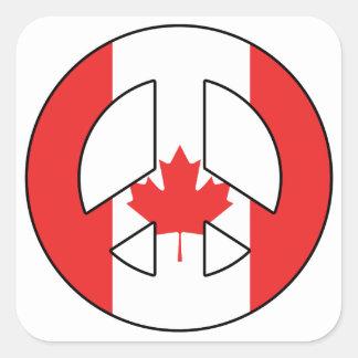 Adesivo Quadrado Sinal de paz canadense