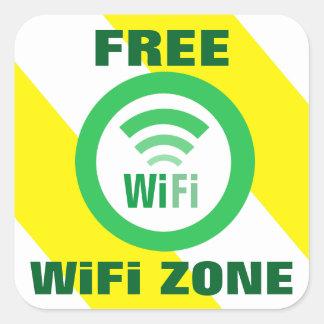 Adesivo Quadrado Sinal livre da zona de WiFi