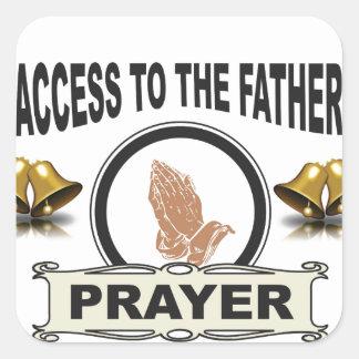Adesivo Quadrado sinos do acesso da oração