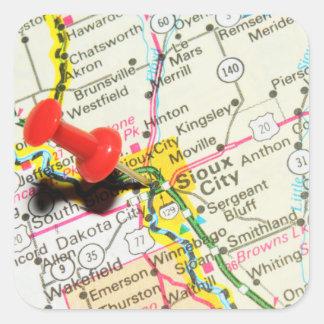 Adesivo Quadrado Sioux City, Iowa