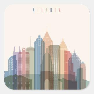 Adesivo Quadrado Skyline da cidade de Atlanta, Geórgia |