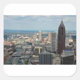 Adesivo Quadrado Skyline de Atlanta