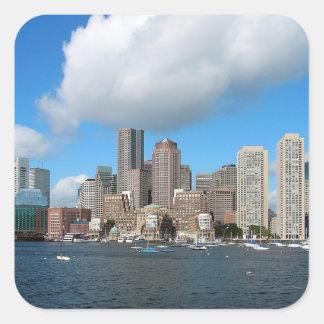 Adesivo Quadrado Skyline de Boston