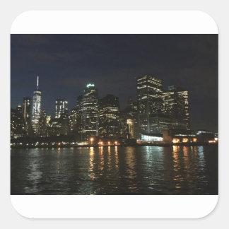 Adesivo Quadrado Skyline de Manhattan