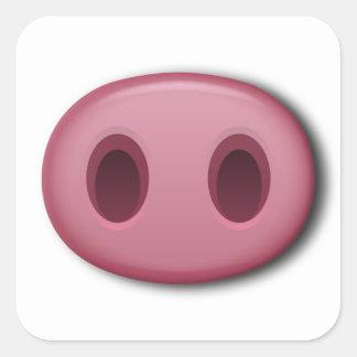 Adesivo Quadrado Snout de PinkPig