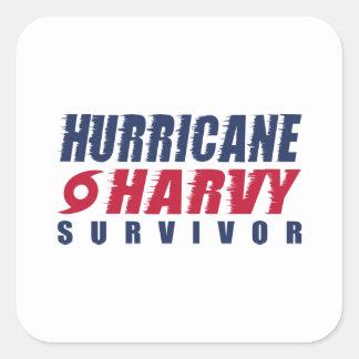 Adesivo Quadrado Sobrevivente de Harvey do furacão
