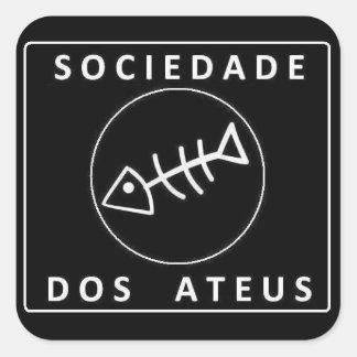 Adesivo Quadrado Sociedade Dos Ateus
