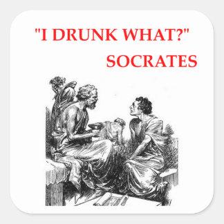 Adesivo Quadrado Socrates