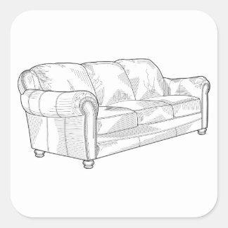 Adesivo Quadrado Sofá