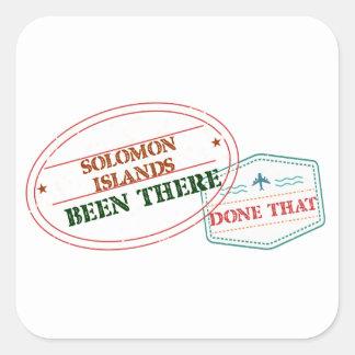 Adesivo Quadrado Solomon Island feito lá isso