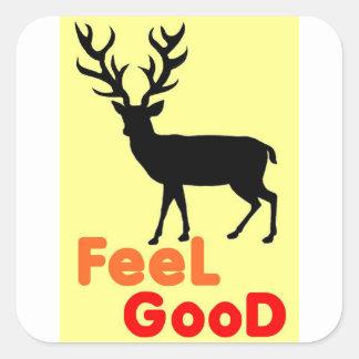Adesivo Quadrado Sombra dos cervos da sensação boa