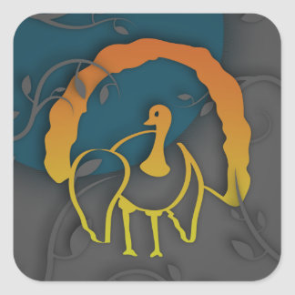 Adesivo Quadrado Sombra feliz Turquia da acção de graças