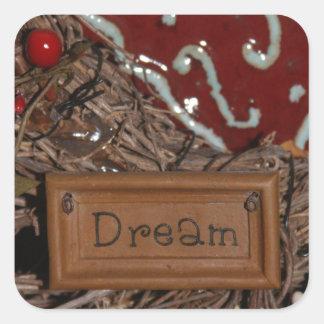 Adesivo Quadrado Sonho