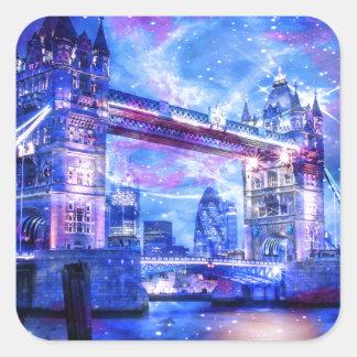 Adesivo Quadrado Sonhos da Londres do amante