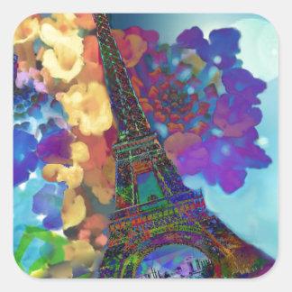 Adesivo Quadrado Sonhos de Paris das flores