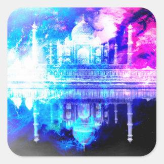 Adesivo Quadrado Sonhos de Taj Mahal do céu da criação