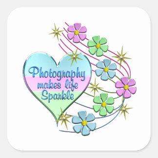 Adesivo Quadrado Sparkles da fotografia