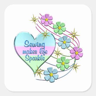 Adesivo Quadrado Sparkles Sewing