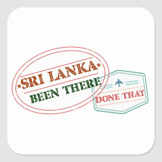 Adesivo Quadrado Sri Lanka feito lá isso