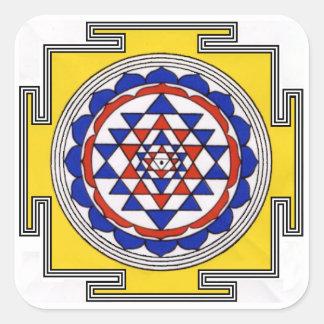 Adesivo Quadrado Sri Yantra