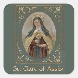 Adesivo Quadrado St. Clare de Assisi