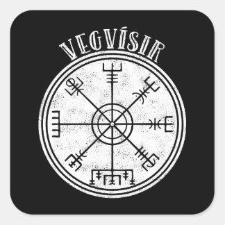 Adesivo Quadrado Stave islandês do compasso de VEGVISIR