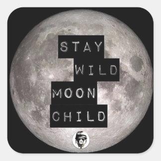 Adesivo Quadrado Stay Wild Moon Child Sticker