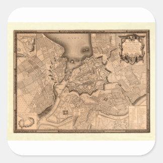 Adesivo Quadrado Suiça 1773 de Genebra