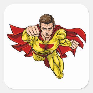 Adesivo Quadrado Super-herói