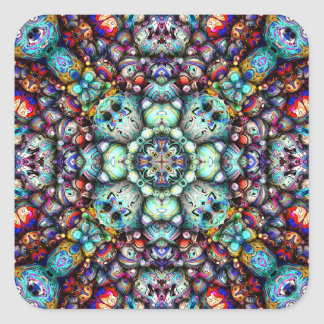 Adesivo Quadrado Superfícies estruturais da simetria