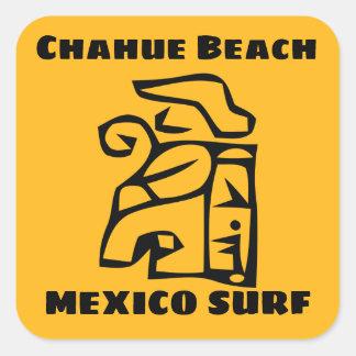 Adesivo Quadrado Surf da praia de Chahue