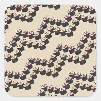 Adesivo Quadrado Sushi Chevron na cor