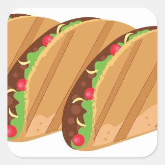 Adesivo Quadrado Tacos
