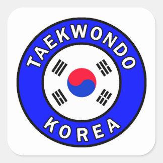 Adesivo Quadrado Taekwondo