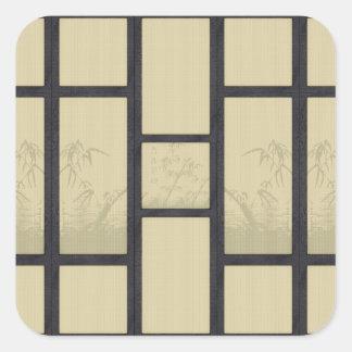 Adesivo Quadrado Tatami - bambu