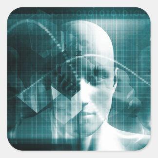 Adesivo Quadrado Tecnologia futurista da ciência médica como uma