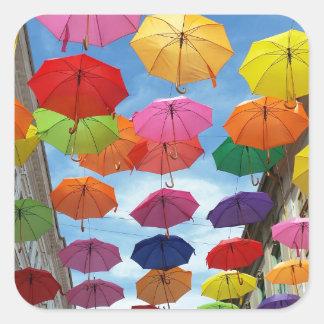 Adesivo Quadrado Telhado dos guarda-chuvas