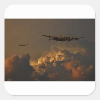 Adesivo Quadrado TEMPESTADE do bombardeiro de Lancaster