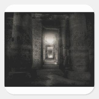 Adesivo Quadrado Templo Abydos de Seti I