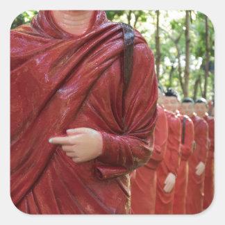 Adesivo Quadrado Templo de Nellikulama de 500 Arahants, Sri Lanka