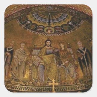 Adesivo Quadrado Templo do arco da abóbada da igreja