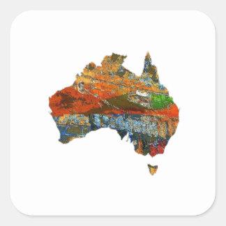 Adesivo Quadrado Tempo australiano