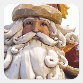 Adesivo Quadrado Tempo do Natal do Natal de Papai Noel Nicholas