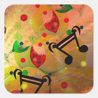 Adesivo Quadrado Tênis com notas da música no Natal