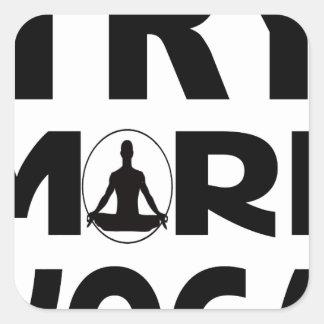 Adesivo Quadrado Tente mais ioga