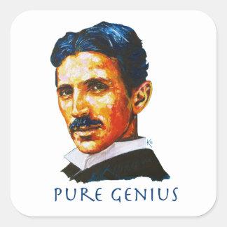 Adesivo Quadrado Tesla - gênio puro